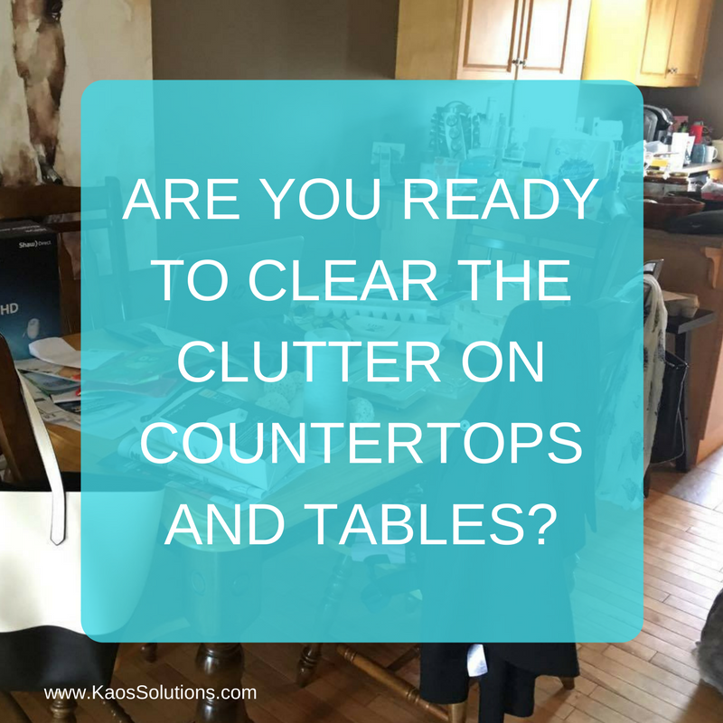 Are you ready to clear the clutter on countertops and tables 1