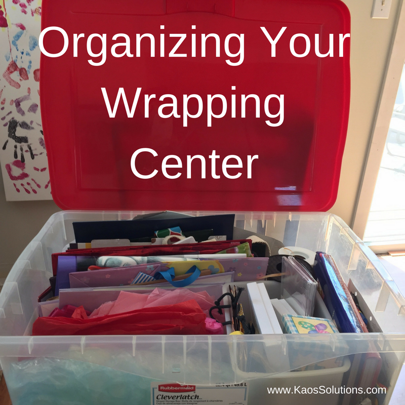 Organizing Your Wrapping Center 1