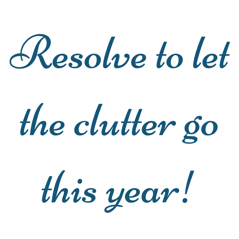 Resolve to let the clutter go this year 1