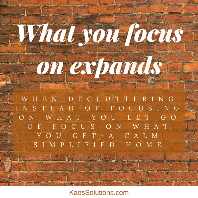 What you focus on expands