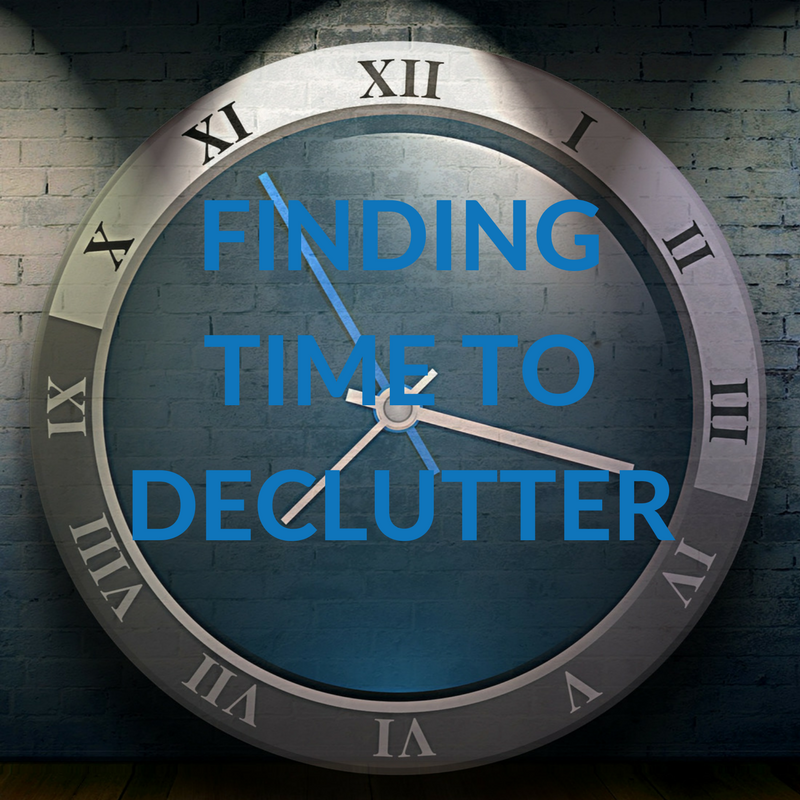 finding time to declutter