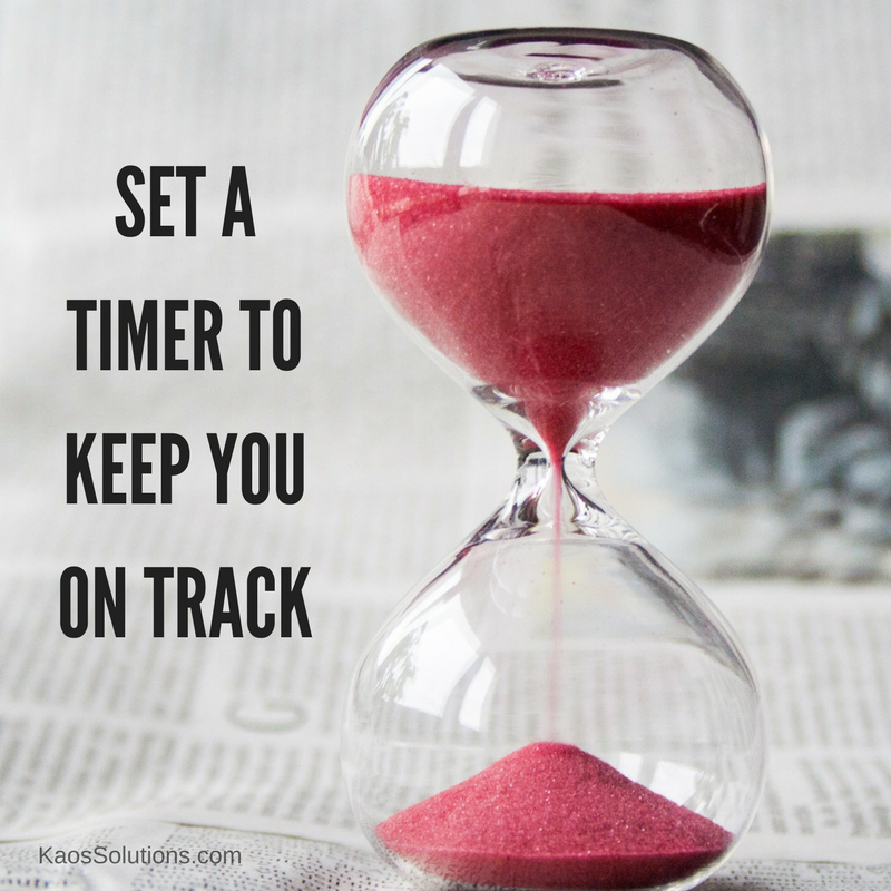 set a timer to keep you on track